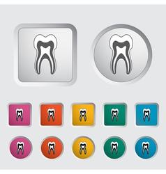 icon dentistry vector image