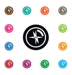 isolated direction icon compass element vector image