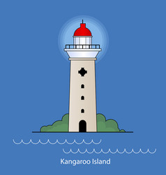 Kangaroo island - australia lighthouse vector