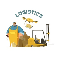 Logistics concept vector