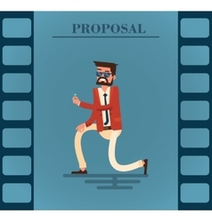 Man makes a proposal vector