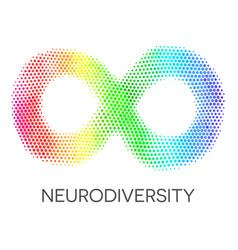 neurodiversity symbol rainbow infinity loop vector image vector image