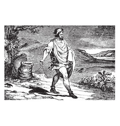 Parable of the sower vintage vector