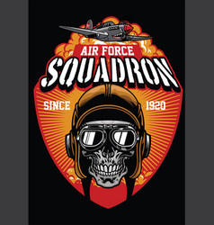 Pilot air force squadron vector