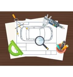 Production line element poster vector