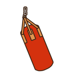 Punching bag isolated icon vector