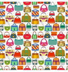 Seamless pattern with different women bags vector
