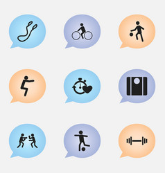 Set of 9 editable lifestyle icons includes vector