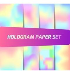 Set of hologram backgrounds vector
