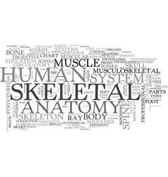 Skeletal word cloud concept vector