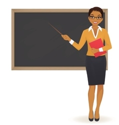 The teacher at blackboard vector image vector image