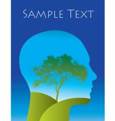 tree landscape thoughts vector image vector image