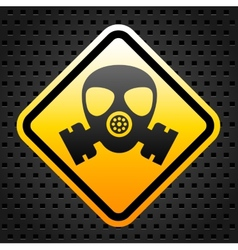 Warning sign with gas mask vector
