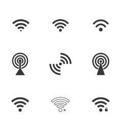Wifi icons vector