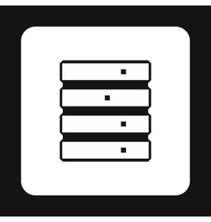 Data storage icon simple style vector