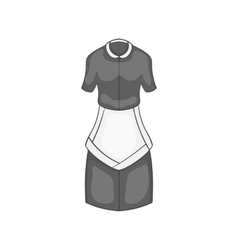 Maid costume icon black monochrome style vector