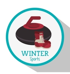 Boot and winter sport design vector