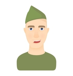 Soldier icon cartoon style vector