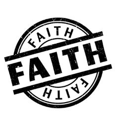Faith rubber stamp vector