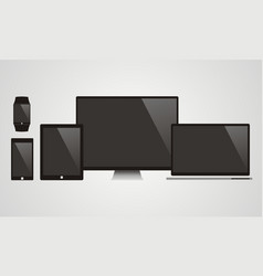 Electronic devices with black screens - vector