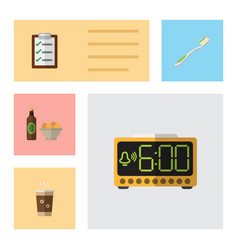 Flat icon oneday set of questionnaire dental vector