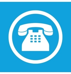 Phone sign icon vector
