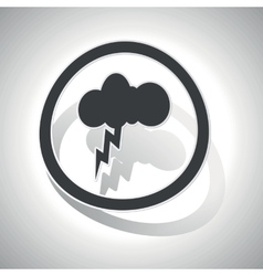 Thunderbolt sign sticker curved vector