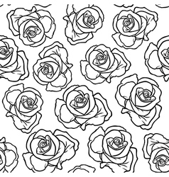 Rose contour pattern vector