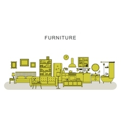 Furniture and home decoration vector