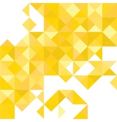 Yellow abstract pattern - triangle and square vector