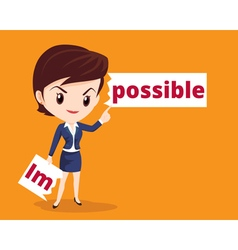 Business woman make possible vector