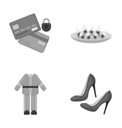 Bank trade business and other monochrome icon in vector