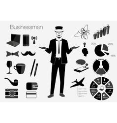 Businessman style elements vector