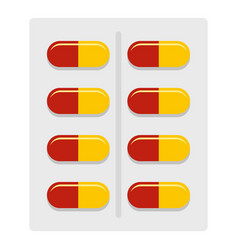 Capsules icon isolated vector