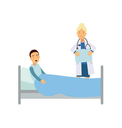 cartoon character of female doctor visiting vector image