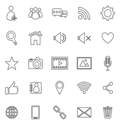 Chat line icons on white background vector image vector image