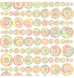 circles sized seamless pattern vector image vector image