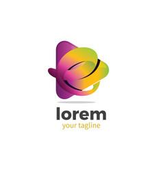 e media logo vector image