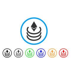 Ethereum portal rounded icon vector