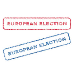 European election textile stamps vector
