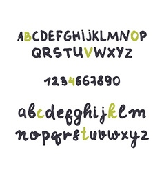 Font careless style handmade Design alphabet vector image