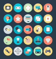 Gaming Colored Icons 4 vector image