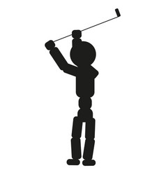 golfer man sign black icon vector image vector image
