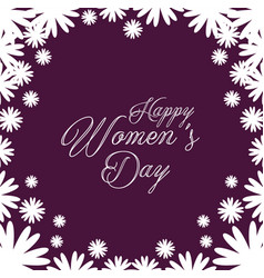 Happy womens day celebration postcard vector