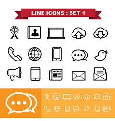 Line icons set 1 vector image