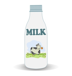 milk bottle vector image