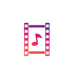 multimedia icon video and music vector image