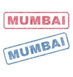 Mumbai textile stamps vector