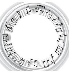 Music notes border musical frame background vector