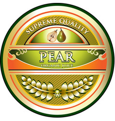 Pear juice gold icon vector